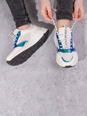 Кросівки білі з контрастним оздобленням | 5643116