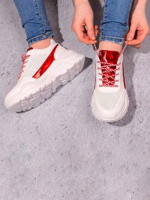 Кросівки біло-червоні | 5643213