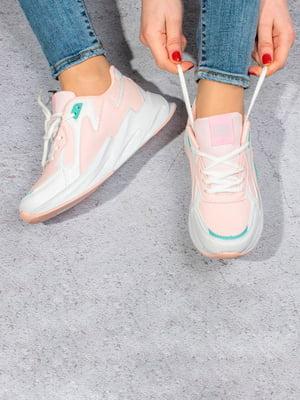 Кросівки біло-рожеві | 5643277