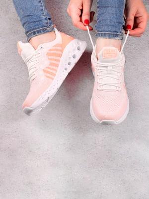 Кросівки біло-рожеві | 5643546