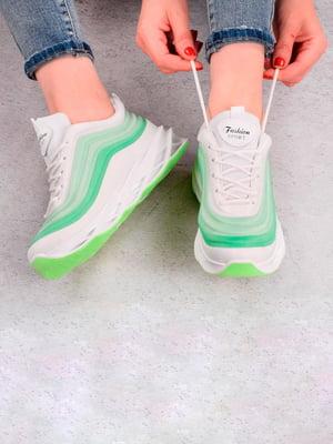 Кросівки біло-зелені | 5643577