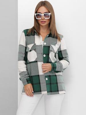 Сорочка зеленого кольору в клітинку | 5694954