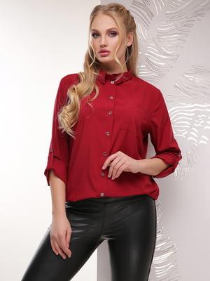 Рубашка бордовая | 5694958