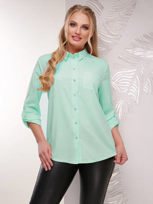 Рубашка мятного цвета | 5694959