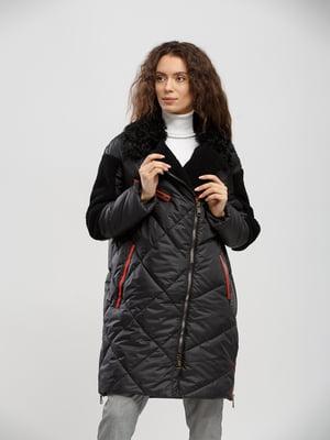Пальто-дублянка чорне | 5695113