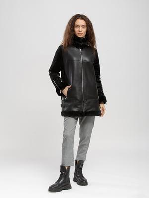 Куртка-дубленка черная | 5695114