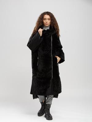 Куртка-дубленка черная | 5695115