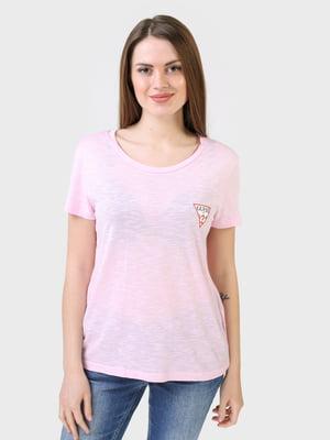 Футболка рожевого кольору з логотипом   5683781