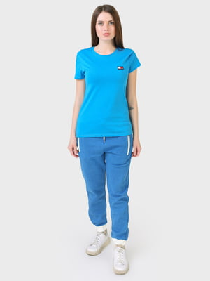 Штани спортивні блакитного кольору | 5683925