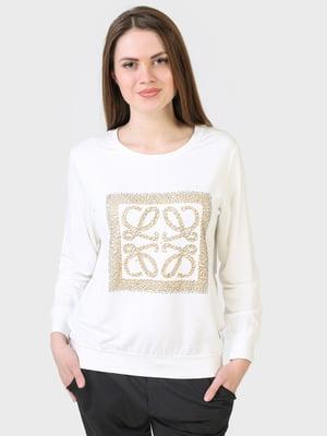 Лонгслів білий з малюнком | 5683933