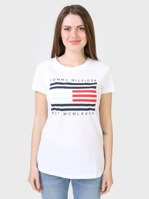 Футболка белая с логотипом | 5684000