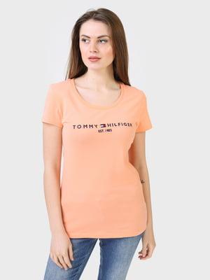 Футболка персикового відтінку | 5693370