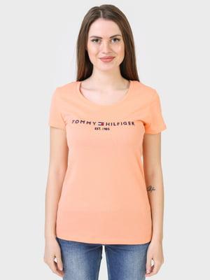 Футболка персикового відтінку | 5693403