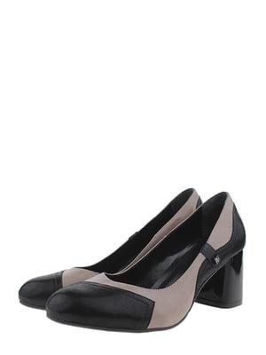 Туфлі чорно-бежевого кольору | 5519060