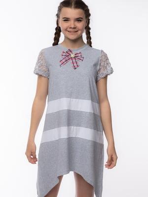 Сукня сіра в смужку   5690679