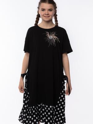 Сукня чорна в горошок | 5690706