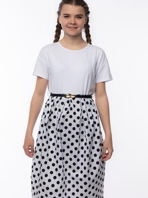 Сукня біла в горошок | 5690703
