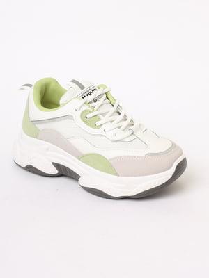 Кроссовки бело-серые | 5694732