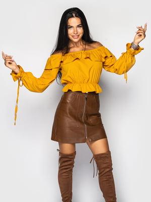 Блуза горчичного цвета | 5697064
