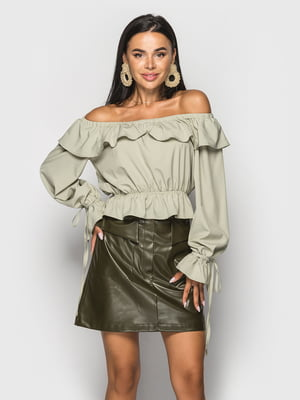 Блуза оливкового цвета   5697068