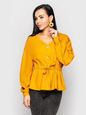 Блуза горчичного цвета   5697071