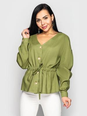 Блуза цвета хаки   5697073