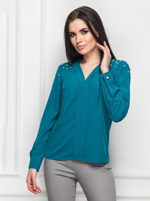 Блуза цвета морской волны   5697075