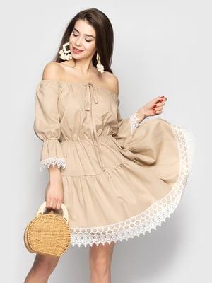 Сукня кавового кольору | 5697300