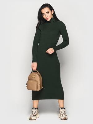 Платье бутылочного цвета | 5697521
