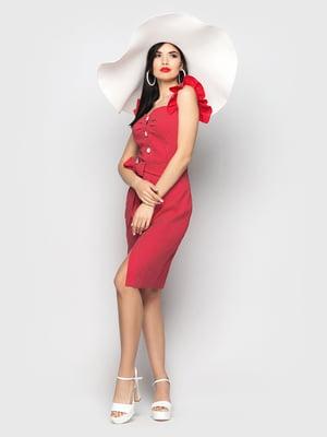 Сукня червона в горох | 5697597