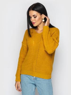 Пуловер гірчичного кольору   5697733