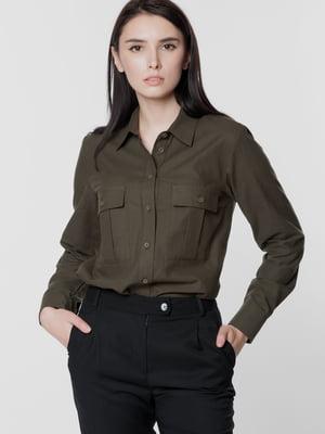 Рубашка цвета хаки | 5699656