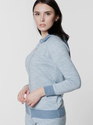 Кофта спортивная голубого цвета   5699662