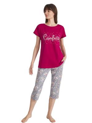 Пижама: футболка и бриджи | 5701003