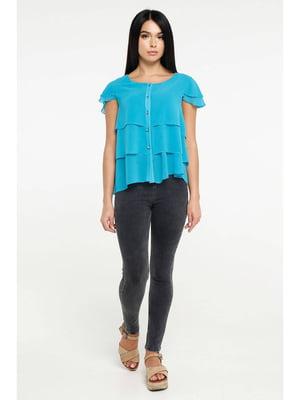 Блуза бирюзовая | 5699676