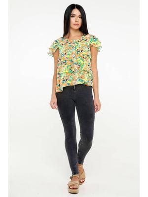 Блуза абстрактной расцветки | 5699677