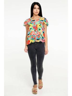 Блуза в цветочный принт | 5699678