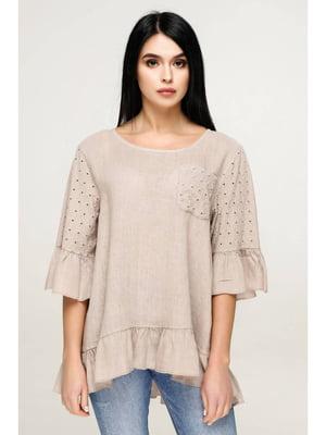 Блуза бежевая | 5699690