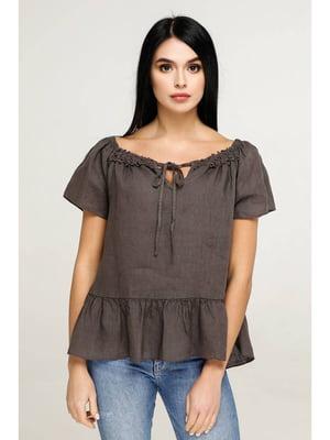 Блуза кофейного цвета | 5699694