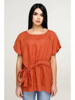 Блуза цвета охры | 5699696