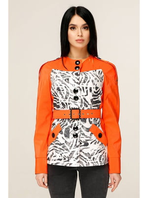 Куртка оранжевая с принтом | 5699862