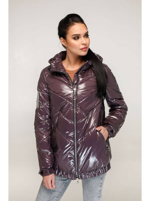 Куртка розово-коричневая | 5699911