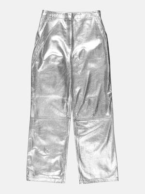 Штани сріблястого кольору   5699651