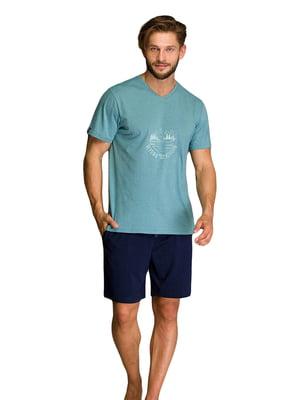Пижама: футболка и шорты | 5701405
