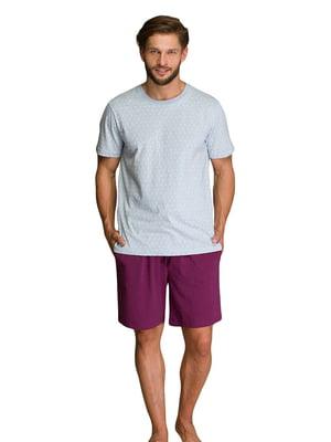 Пижама: футболка и шорты | 5701407