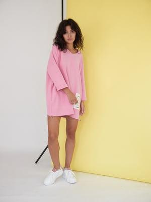 Сукня рожевого кольору з логотипом | 5701481