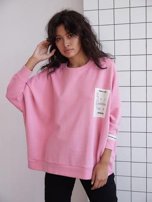 Світшот рожевого кольору з логотипом | 5701486