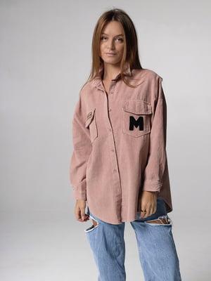Сорочка рожевого кольору з малюнком | 5701487