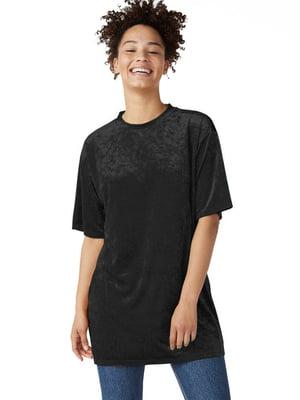 Платье-футболка черное | 5695962