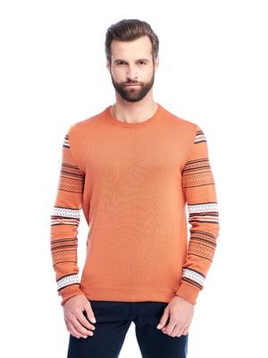 Джемпер помаранчевий з орнаментом   5632399